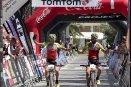 Llegada de la primera etapa de la XVII Vuelta a Ibiza