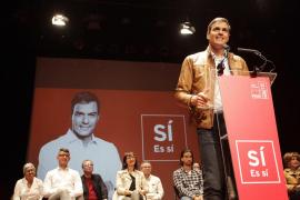 Pedro Sánchez hace un llamamiento a la unidad del PSOE en Ibiza
