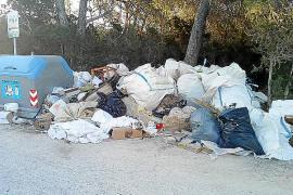 Sant Josep multa con 5.000 euros a una empresa por el vertido de escombros