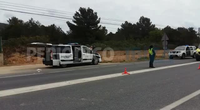 Una mujer de 74 años ha fallecido tras ser arrollada cuando cruzaba la carretera que une Ibiza con Sant Josep