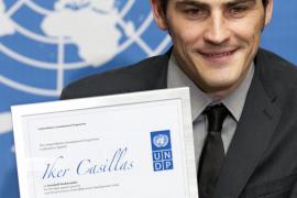 Iker Casillas, embajador  de buena voluntad de la ONU