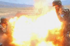 Una soldado logra captar el momento de su muerte