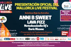 Anni B Sweet, Lava Fizz, Notodoesindie DJs y Enric Ricone, en la presentación del Mallorca Live Festival