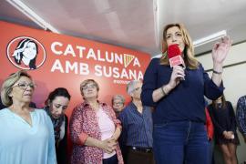 Susana Díaz reivindica en Cataluña una España federal que «respete» territorios y personas