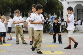 Fiesta del Bolitx en el colegio Can Bonet (Fotos: Arguiñe Escandón).