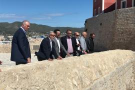 El Secretario de Estado de Vivienda visita las obras de rehabilitación del Baluarte de Sant Jordi