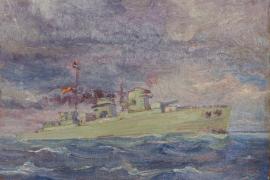 El Consell recibe un cuadro de 'Portmany' y un retrato del artista