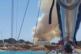 El fuego calcina catorce hectáreas en Formentera