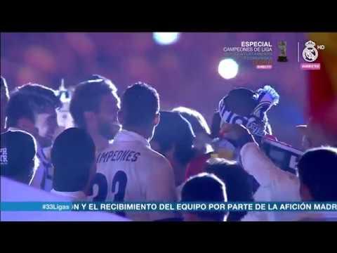 Los jugadores del Madrid en Cibeles: «Piqué, cabrón, saluda al campeón»