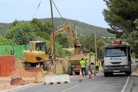 Comienza la construcción de la acera y las paradas de bus en Can Ramon y sa Font