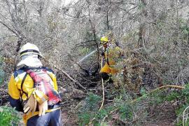 Una quema descontrolada arrasa 5.000 metros cuadrados de restrojos en sa Caleta