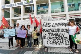Las trabajadoras de limpieza del Consell desconvocan la huelga