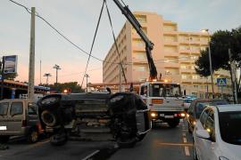 Varios heridos en una jornada accidentada en las carreteras y un atropello en Santa Eulària