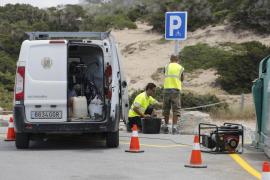 Sant Josep multa a 106 vehículos por aparcar mal en Platges de Comte