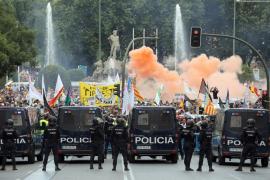 La protesta de los taxistas en Madrid se salda con cuatro detenidos