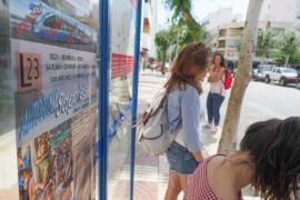 Inicio de la línea de autobús que conecta Vila con Benirràs (Fotos: Marcelo Sastre).