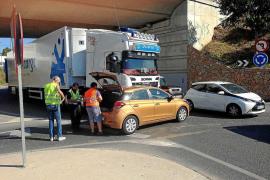 Herido en Santa Eulària un motorista que circulaba sin casco y bebido