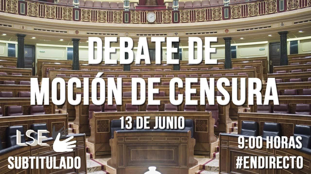 Sigue en directo el debate de la moción de censura de Podemos