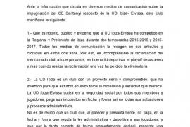 El Santanyí impugna el ascenso de una UD Ibiza dispuesta a tomar medidas legales
