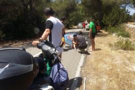 Dos heridos por accidente de moto en Formentera