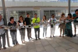 Obra de los participantes del programa 'Personas sin Hogar' y alumnos de l'Escola d'Arts.