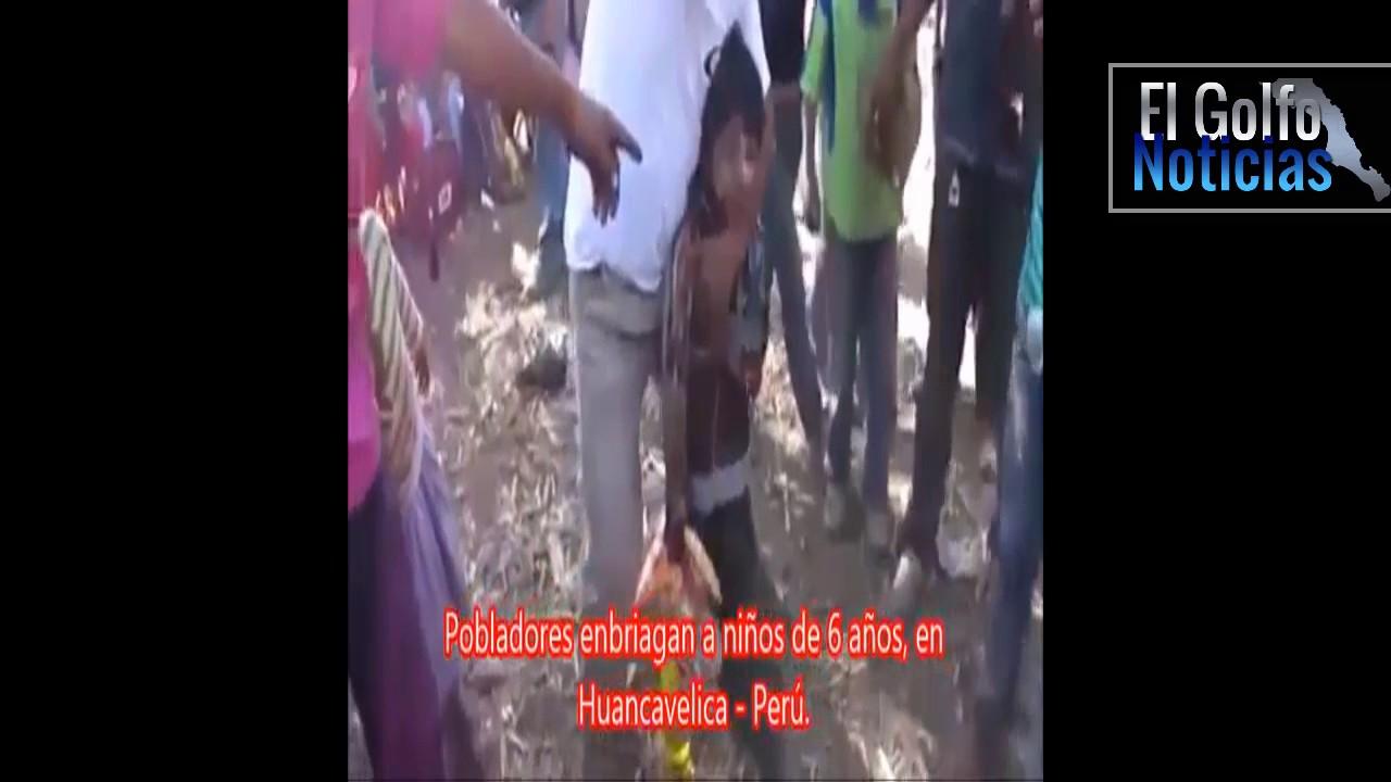 Al borde del coma etílico dos niños que fueron emborrachados en Perú
