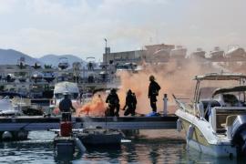 Marina Ibiza realiza un simulacro para actuar en caso de emergencia