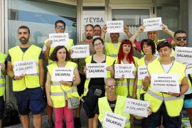 Los trabajadores de la zona azul de Vila protestan por la diferencia de salarios