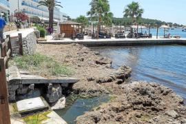 Los hoteleros de ses Figueres denuncian vertidos de agua sucia en la playa