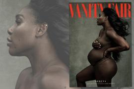 Serena Williams presume de embarazo en la portada de Vanity Fair