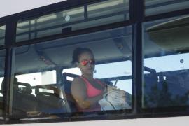Trayecto en bús entre Vila y Santa Eulària.