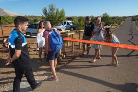 Se inicia la limitación de acceso al faro de es Cap (Fotos: Marcelo Sastre)