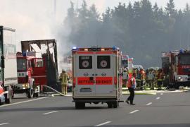 Más de 30 heridos por un accidente de autobús en Baviera