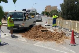 Una avería deja sin agua al pueblo de Sant Ferran durante hora y media