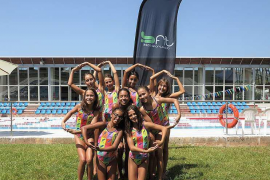Diez nadadoras del CN Eivissa acuden al Campeonato de España alevín de sincronizada
