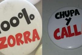 Archivan una denuncia por la venta en Pamplona de chapas con imágenes o mensajes machistas