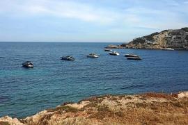 Costas constata que los fondeos sobre posidonia en s'Illa Grossa no están autorizados