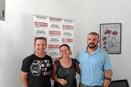 Podemos Eivissa muestra su apoyo a los trabajadores de seguridad del aeropuerto