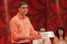 Pedro Sánchez se compromete en Palma a luchar por un sistema de financiación «justo» para Baleares