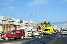 Herida una conductora en un aparatoso accidente en Sant Antoni