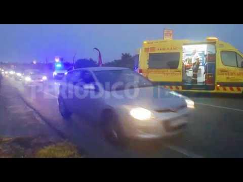 Heridos dos hombres en una colisión entre dos motos en la carretera de Sant Josep