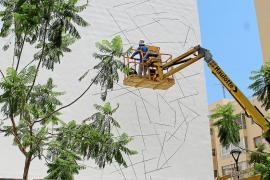 El artista urbano Ino volverá a dejar su sello en un colegio de la isla de Ibiza
