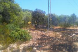 Susto en sa Talaia de Sant Antoni por un incendio