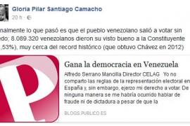 """Gloria Santiago asegura que """"el pueblo venezolano salió a votar sin miedo"""""""