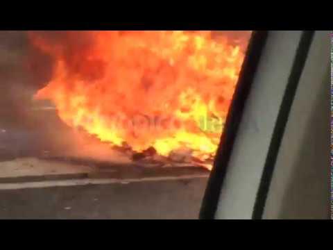 Arde un vehículo en la carretera de Sant Antoni