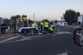 Herido un motorista en un choque contra un todoterreno en Santa Eulària