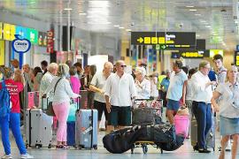 Fin de semana de mucho movimiento en el aeropuerto de es Codolar
