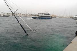 El temporal causa un naufragio y cortes eléctricos en Formentera