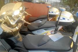 La mitad de las motos del parque móvil de la Policía Local de Sant Antoni están en desuso