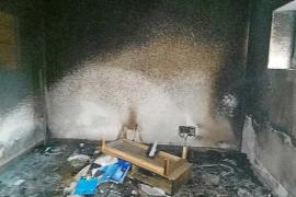 En estado grave una mujer tras sufrir quemaduras en el 40% del cuerpo en un incendio en Santa Eulària